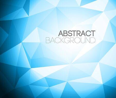 Colorful folded paper background - blue version Illustration