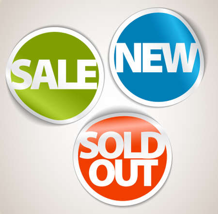 eshop: Set of labels for your eshop - the new, sold out and discount item