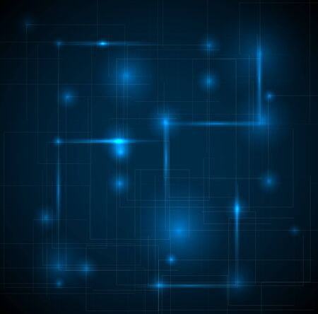 Abstract dark blue technical background with place for your text Vector