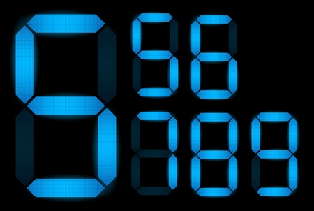 led display: Set of digital numbers - check my portfolio for other numbers from the set