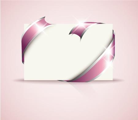 envelope decoration: Tarjeta de boda - Rosa alrededor de papel blanco en blanco, donde debe escribir el texto