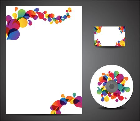 Design template set - business card, cd, paper Vector
