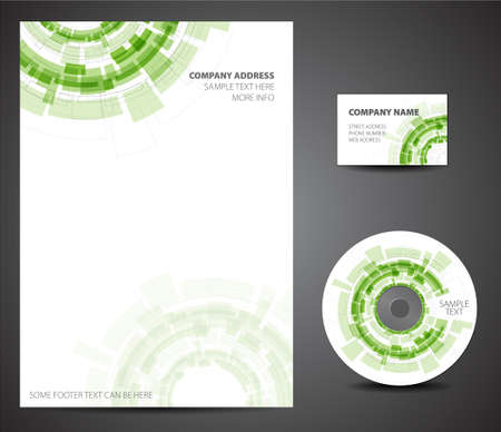letter head: Design template set - business card, cd, paper