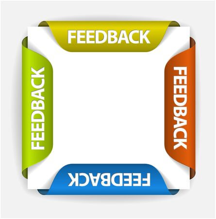 Feedback Labels  Stickers on the edge of the (web) page Vector