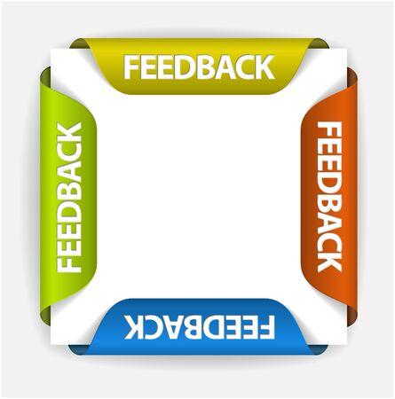 onglet: Les �tiquettes de vos commentaires  autocollants sur le bord de la page (web) Illustration