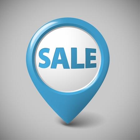 big business: Ronda puntero 3D de gran venta - de color azul (comprobar mi cartera para versiones m�s) Vectores