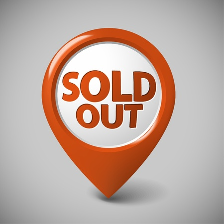 Round 3D pointer for a sold out item - red color (check my portfolio for more versions) Vector