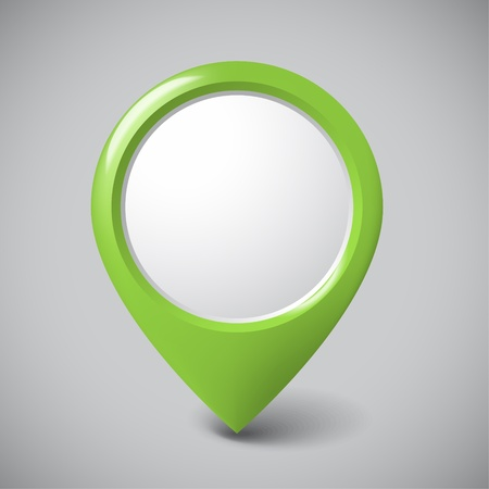 Round 3D pointer with place for your content - green version (check my portfolio for more) Vector