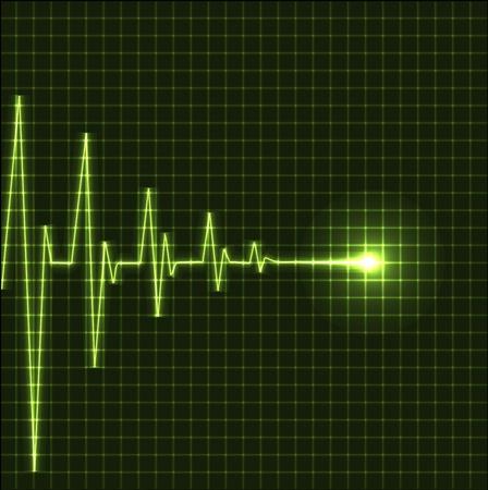 latidos del coraz�n: Resumen heart beats cardiogram ilustraci�n - vector
