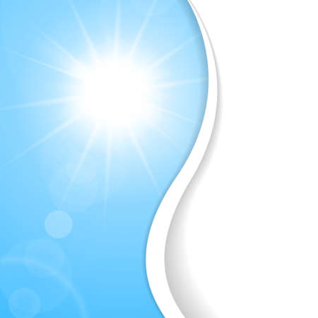 sunstroke: Light blue sunny background with place for your content Illustration