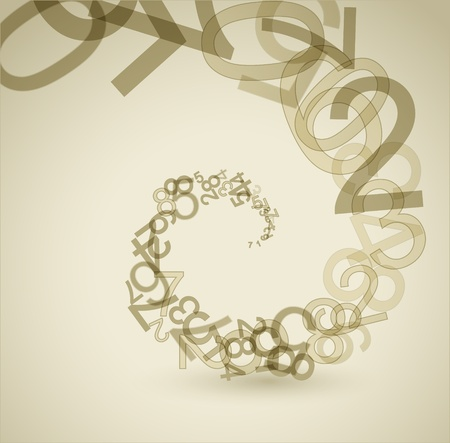 one: Abstract retro background with numbers - infinity Illustration