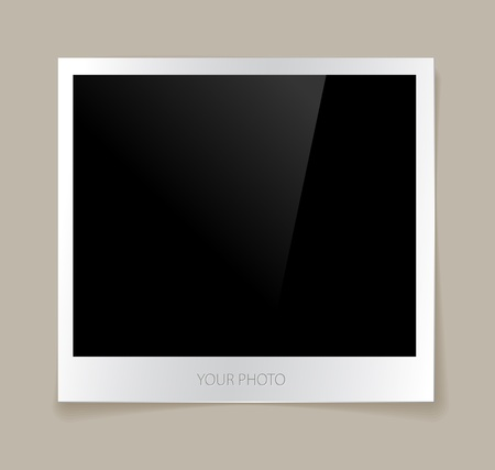 Empty photo vector illustration with a nice shadow Vector
