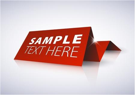 Rode tag voor belangrijke informatie - naamplaatje Vector Illustratie