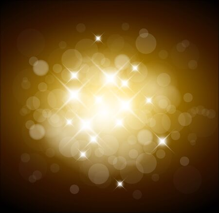 Golden  background with white lights and place for your text Stock Vector - 9942189