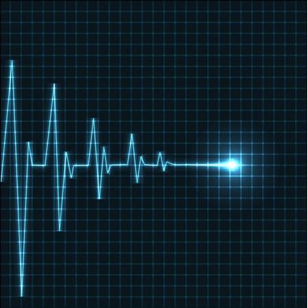 hjärtslag: Abstract heart beats cardiogram illustration - vector