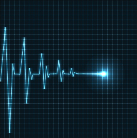pulse trace: Abstract heart beats cardiogram illustration - vector