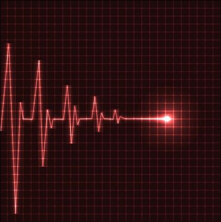Abstract heart beats cardiogram illustration - vector Vector