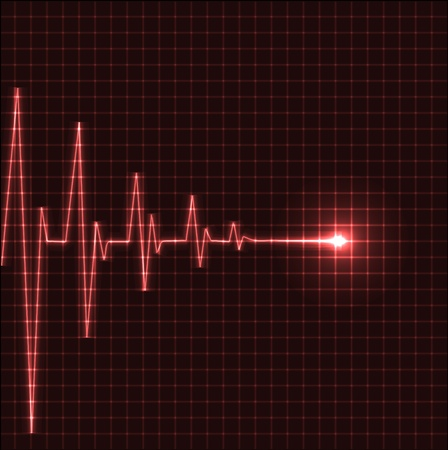 electrocardiogram: Abstract heart beats cardiogram illustration - vector