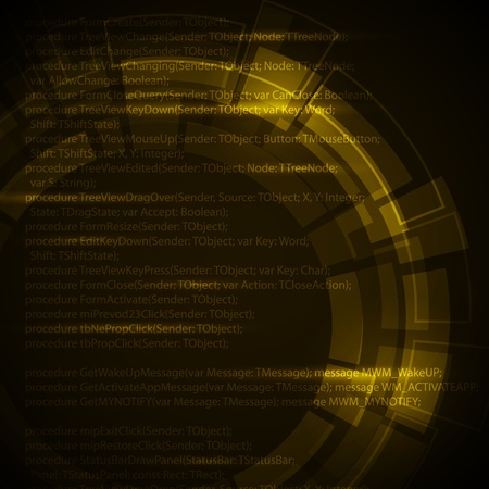Abstract yellow technical background with place for your text Vector