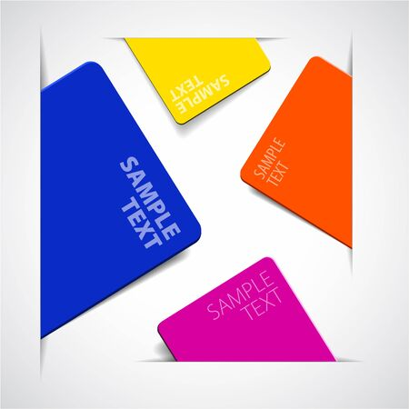 Set of vector colorful paper cards with place for your text Vector