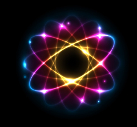 particle: Colorful Atom vector illustration
