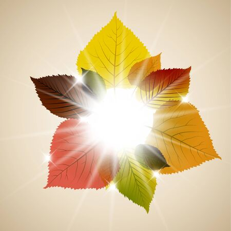 saturate: Fall sunny leafs abstract background with place for your text Illustration