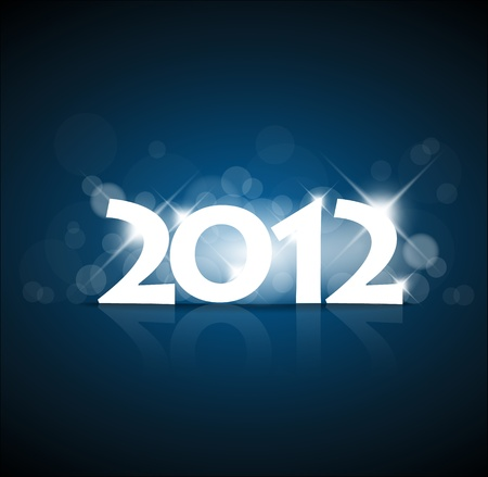 New Years card 2011 with back light and place for your text Stock Vector - 10470753