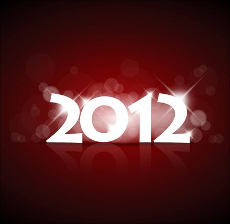 Vector New Year card 2012 with back light and place for your text Vector