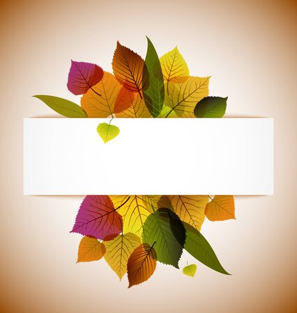 saturate: Fall leafs abstract background with place for your text Illustration