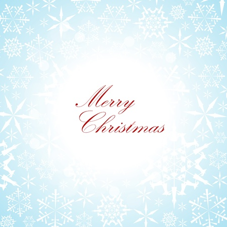Christmas vector card with snowflake pattern on the background Vector