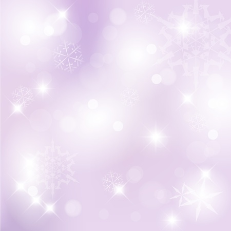 purple background: Vector Christmas background with white snowflakes and place for your text Illustration