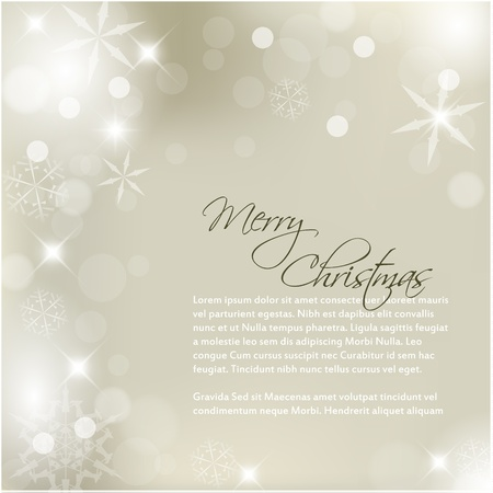 snoflake: Vector Christmas background with white snowflakes and sample text Illustration
