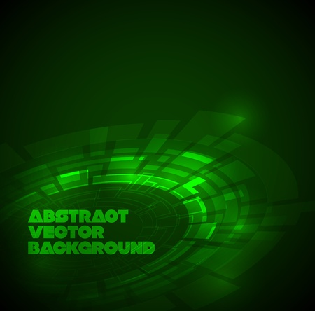 hitech: Abstract dark green technical background with place for your text