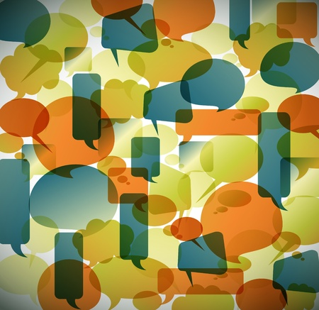 word bubble: Vector vintage background made from speech bubbles