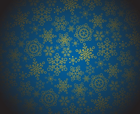 Winter - dark christmas pattern  texture with snowflakes Vector