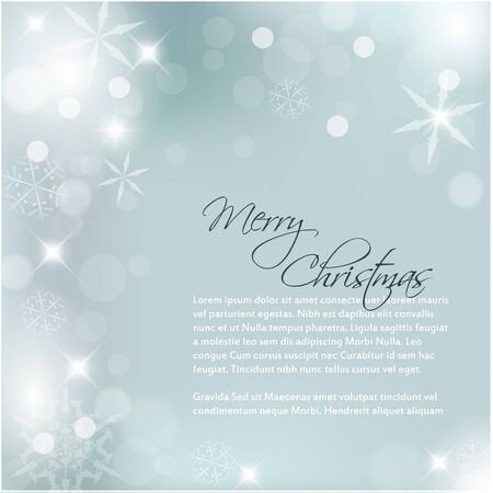 snoflake: Cool Vector Christmas background with white snowflakes and sample text