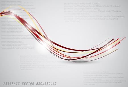 fibre optique: Arri�re-plan de vecteur abstraite avec des fibres et le lieu de votre texte