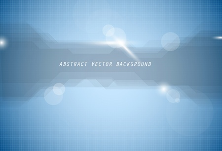 Abstract vector blue background with lights and place for your text