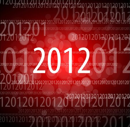 0 1 year: Vector 2012 new year card - made from digits 0, 1, 2