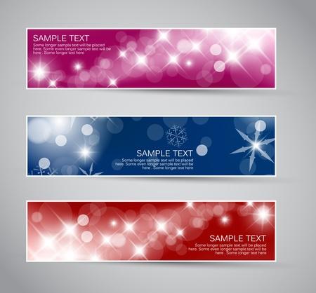 Set of vector christmas / New Year horizontal banners 2012 Stock Vector - 10567670