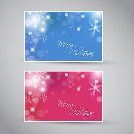 Set of vector christmas  New Year banners 2012 (blue and purple) Vector