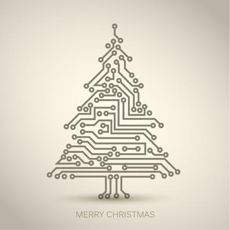 arbre de Noël du circuit électronique numérique