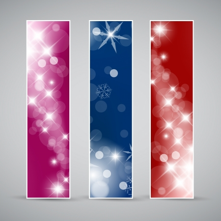 Set of christmas  New Year vertical banners 2012 Vector