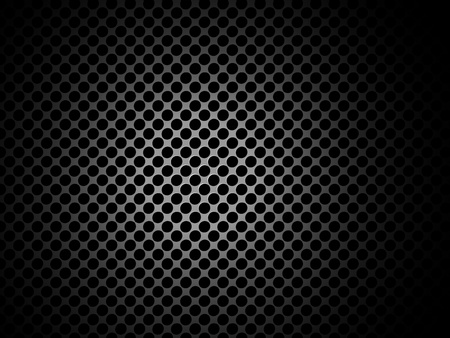 perfurado: Vector metal texture  pattern with holes and place for content Ilustra��o