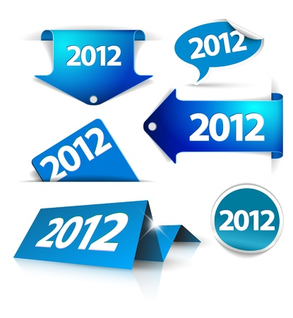 Vector 2012 Labels, stickers, pointers, tags for your (web) page Vector