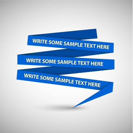 Vector Blue speech bubble made from paper on white paper Vector