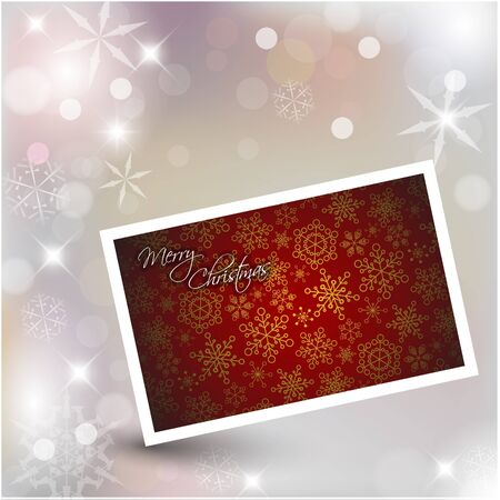 Vector New Year card on Christmas background Stock Vector - 11099744