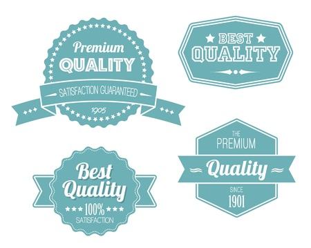 sign store: Old blue retro vintage labels - premium quality Illustration