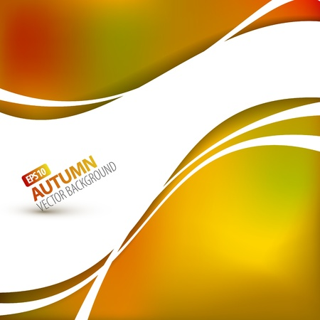 borders abstract: Colorful vector autumn background with place for your text
