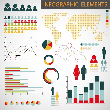 Big collection of Infographic elements for your documents Stock Vector - 11145297